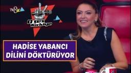 Hadise Yabancı Dilini Döktürüyor   O Ses Türkiye 16 Ekim 2017