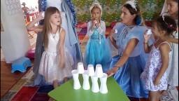 Elif prenses elsa oldu dogum gunu partisine gidiyor yenilenmiş video