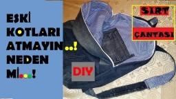 Kot Pantolondan Sırt Çantası Nasıl Yapılır DIY