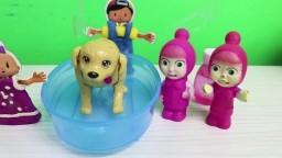 Masha Pepee Bebe Oyuncak Köpeklerini Yıkıyor Eğlenceli Çocuk Oyunları